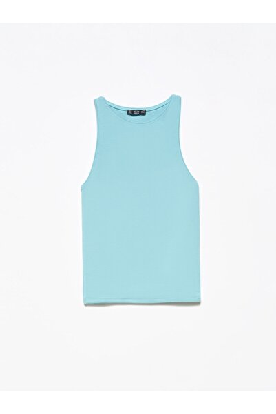 Dilvin 3694 Halter Yaka T-shirt Turkuaz