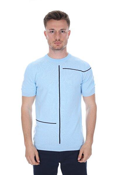 Diandor Erkek Triko T-shirt Mavi/blue 2117700