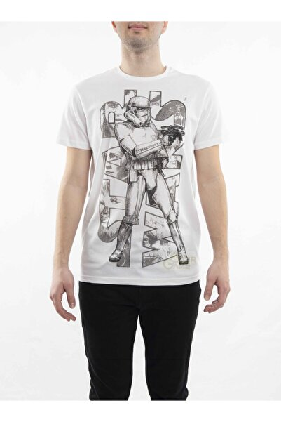 MARVEL Storm Trooper Baskılı Beyaz T-shirt