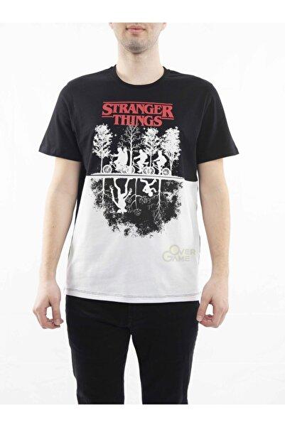 MARVEL Stranger Things Reflections Siyah T-shirt Lisanslı