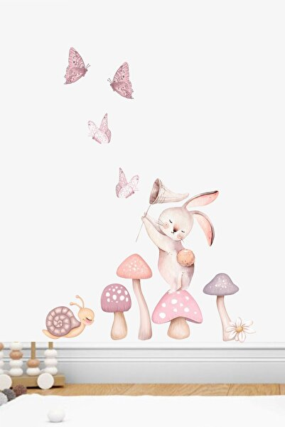 Piksel Grafik Yıldız Avcısı Tavşan Duvar Sticker