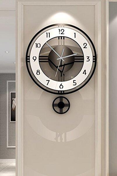 kıvırcık Kreatif Premium Sallanır Sarkaçlı Duvar Saati