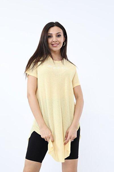 BY H Alwarys Be Kind Baskılı T-shirt Sarı