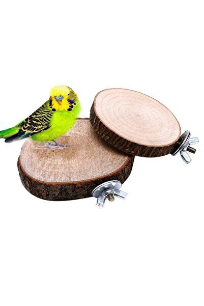 Ahşap Pusula Kütük Platform Kuş Tüneği