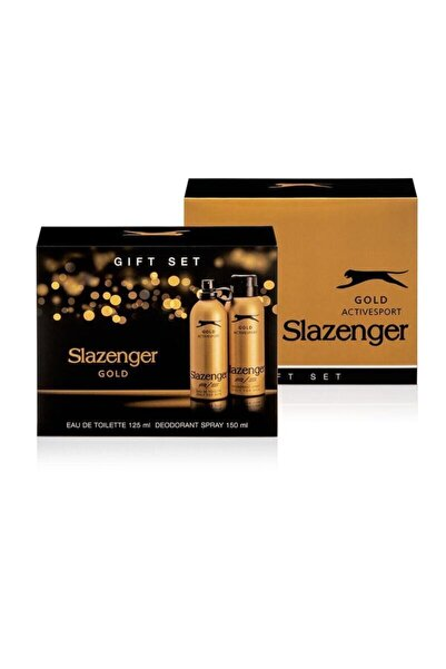 Slazenger Active Sport Gold 125 Ml + 150 Ml Deodorant Erkek Parfümü Yeni Ürün