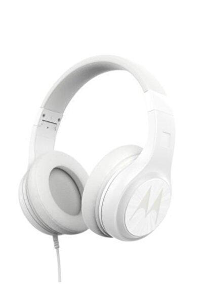 Motorola Pulse120 Bass Kablolu Kulaklık Beyaz - Ultra Hafif Katlanabilir