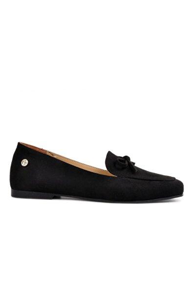 Pierre Cardin 51073 Siyah Süet Kadın Loafer Ayakkabı