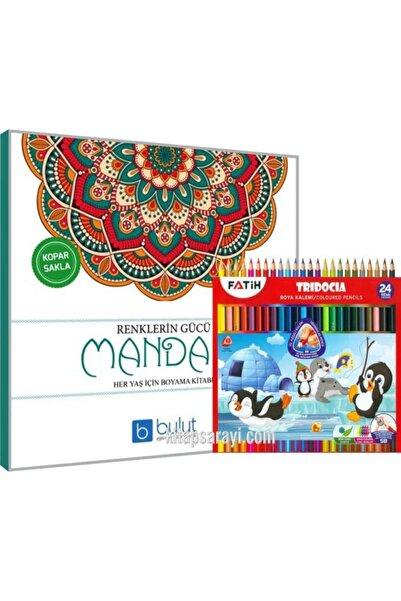 Bulut Yayınları Renklerin Gücü Büyükler Için Mandala Boyama + Kuru Boya