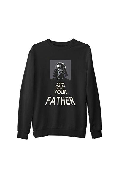 Lord T-Shirt Erkek Siyah Star Wars - Not Your Father Kalın Sweatshirt