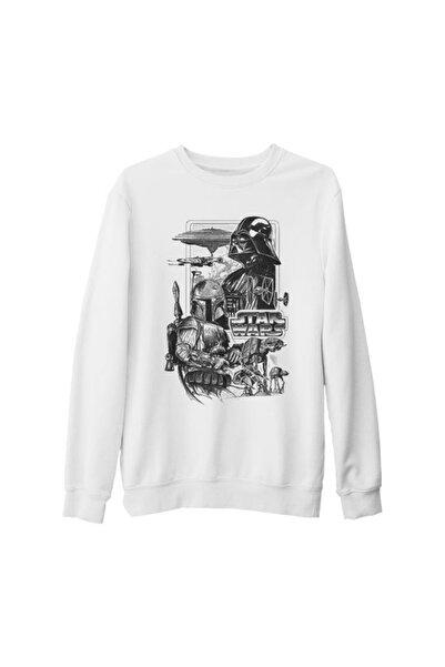 Lord T-Shirt Unisex Beyaz Star Wars  Empire Kalın Sweatshirt