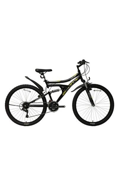 """Bisan Mts 4300 26"""" Çift Amartisötlü 21 Vites Bisiklet Siyah Sarı"""