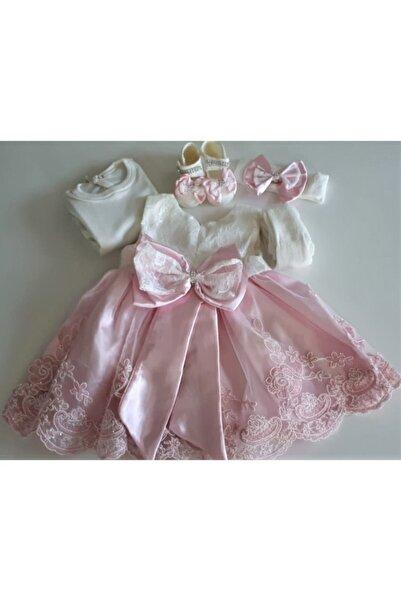 Ponpon Baby Kız Bebek Mevlüt Takımı Mevlütlük Abiye Elbise Lohusa Bebek Doğum Hediyesi Baby Shower Seti