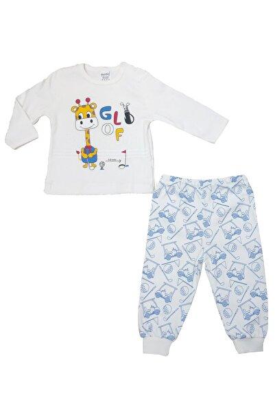 Dandini 2'li Erkek Bebek Ekru Pijama Takım