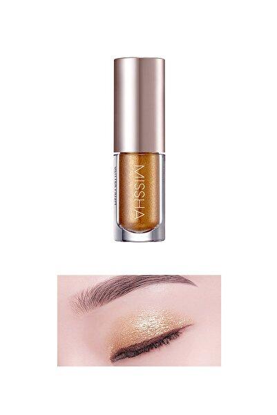 Missha Işıltılı ve Parlak Glitter Likit Göz Farı No.8 Gold Flare Shimmer Prism Liquid Eyeshadow Shine