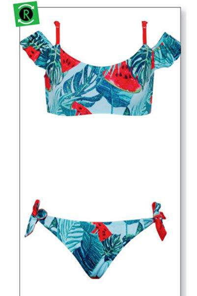 Kom Su Yeşili Karpuzlu Bikini Takımı