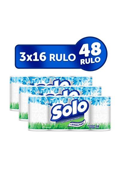 Solo Tuvalet Kağıdı 48 Rulo (16x3 Rulo)