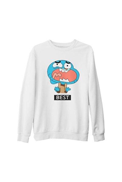 Lord T-Shirt Unisex Beyaz Best Friends Best Kalın Sweatshirt