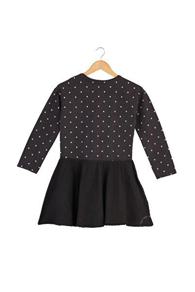 MANGO Kids Kız Çocuk Siyah Elbise 53953776