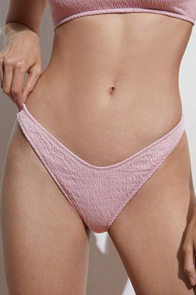Oysho Pamuklu Smock Brezilya Modeli Bikini Altı