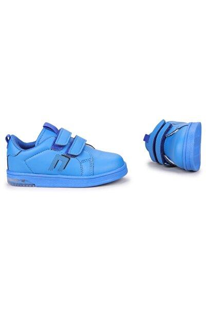 Potincim Kids Pkmn Günlük Cırtlı Işıklı Kız/erkek Çocuk Spor Ayakkabı Saks