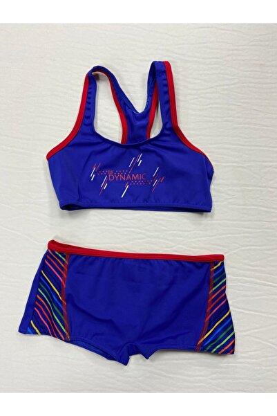 Kom Dynamic Şortlu Kız Çocuk Sporcu Bikini/saks