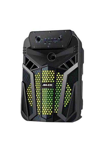 """Di Aksesuar Jbk 630 Portatif 6"""" Bluetooth Hoparlör Ses Bombası Işıklı Kumandalı"""