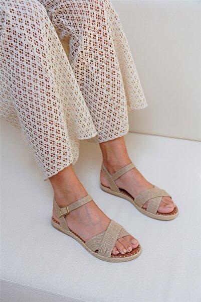 Cömert Ayakkabı Torıa Kadın Sandalet Hasır