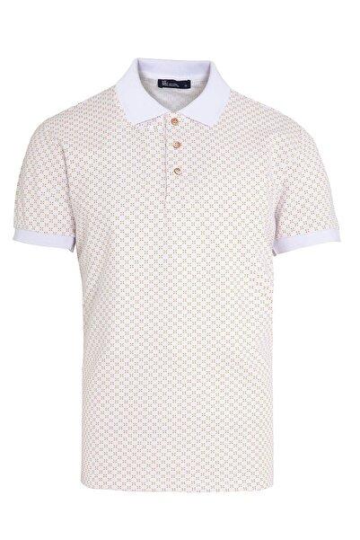 Hatemoğlu Beyaz Baskılı Polo Yaka T-Shirt