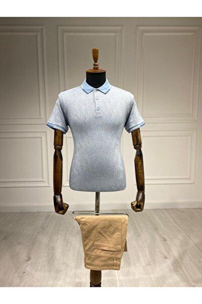Sarar Interview Polo Yaka Açık Mavi T-shirt
