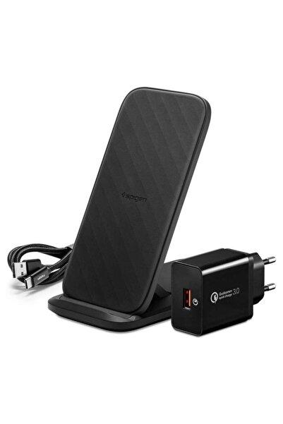 Spigen Essential F316w Qi Kablosuz Şarj Cihazı + Quick Charge 3.0 18w Priz Adaptörü + Usb-c To Usb-a