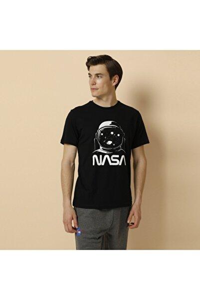 lumberjack Sn709 Nasa Cosmonot T-shı Siyah Erkek T-shirt