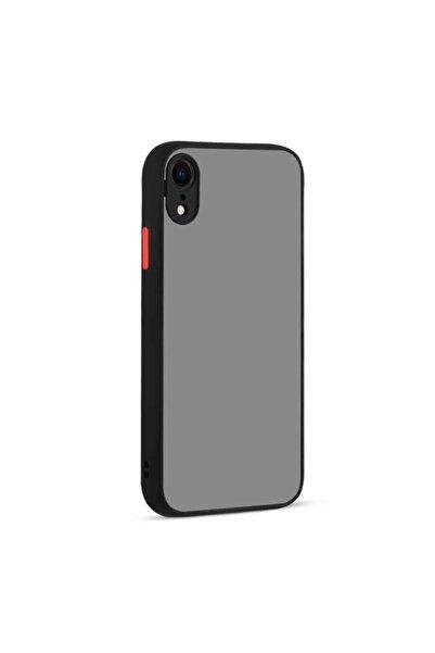 Apple Iphone Xr Uyumlu Kılıf Kamera Korumalı Buzlu Sırt Renkli Kenarlı Tuşlı Silikon
