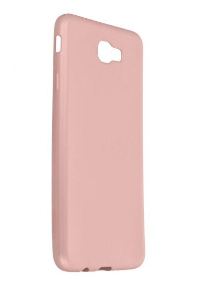 Samsung Galaxy J7 Prime Kılıf Soft Yüzeyli Yıkanabilir Silikon Arka Kapak - Rose Gold