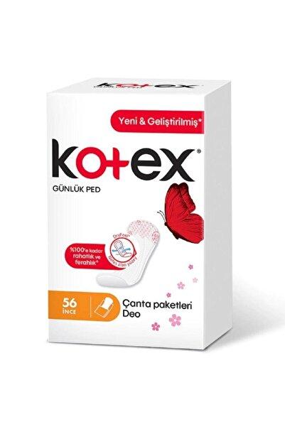 Kotex Ince Günlük Ped 56'lı Parfümlü Çanta Paketleri