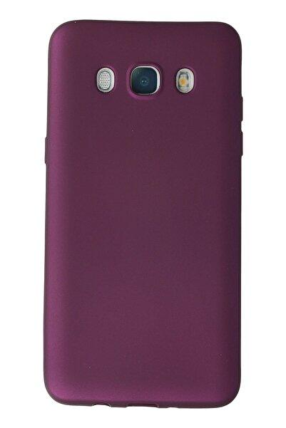 Samsung Galaxy J7 2016 / J710 Kılıf Soft Yüzeyli Yıkanabilir Silikon Arka Kapak - Mürdüm