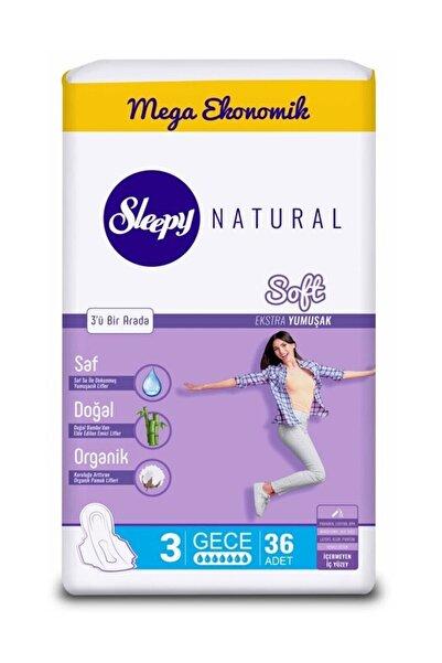 Sleepy Natural Soft Ekstra Yumuşak Gece36 Ped