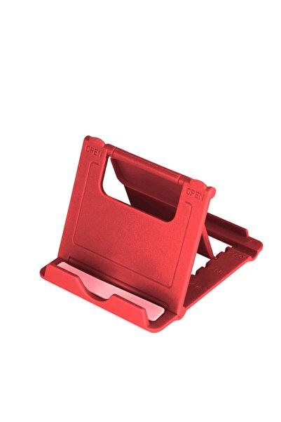 Deilmi Universal Telefon Ve Tablet Stand Tutucu Foldstand Kırmızı