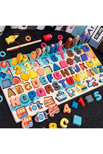 Mas Lord 7'si Bir Arada Montessori Ahşap Puzzle