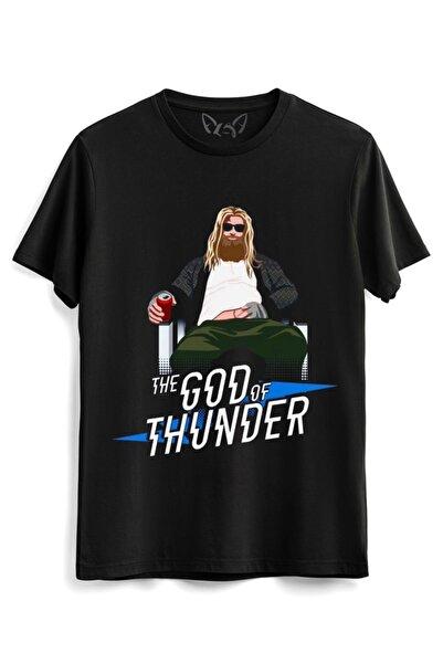 Alfa Tshirt Thor Mjolnir Dijital Resimli Baskılı Hammer Siyah Tshirt