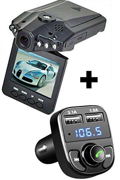By adm Hd Dvr Kamera 6 Led 2,5'' Ekran Sesli Video Çekim Araç Kamerası + Car X8 Araç Fm Bluetooth Araç Kiti