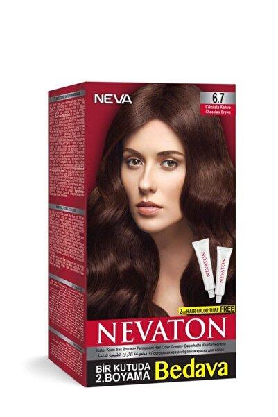 Nevaton Saç Boyası Seti 6.7 Çikolata Kahve 8698636611701