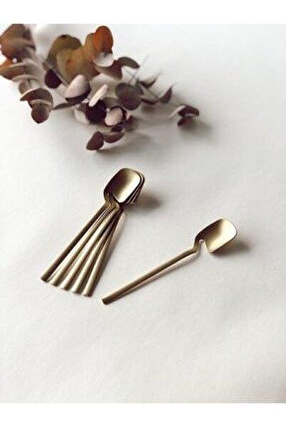 Çay Kaşığı Titanyum Mat Altın
