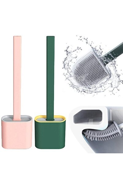 Kitchen Store Silikon Tuvalet Fırçası Banyo Bükülebilir Silikon Wc Fırçası