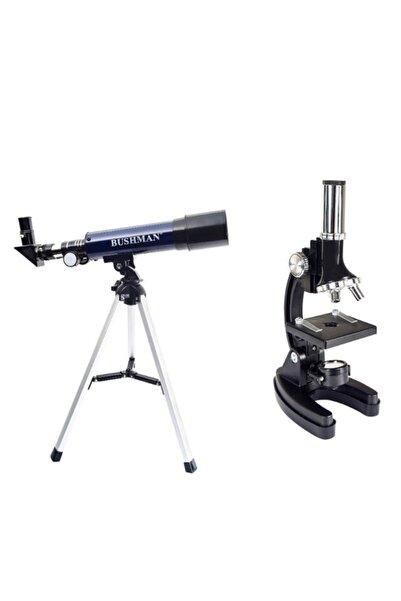 Bushman F36050 Teleskop 90x Yakınlaştırma-1200x Mikroskop +taşıma Çantası