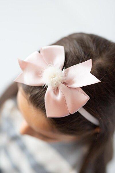 PixyLove Pudra Kız Çocuk Bandana Fiyonk Gift Pom