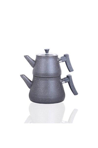 Bayev Bakalit Saplı Granit Çaydanlık 200470 - Gri