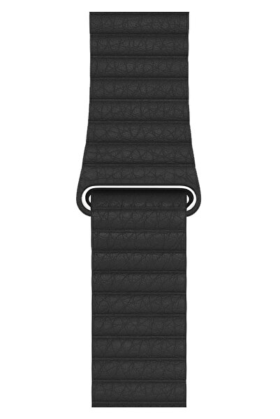 Apple Watch 2 3 4 5 6 SE Nike 42mm 44mm Uyumlu Kordon Kayış Bileklik Leather Deri Loop Band