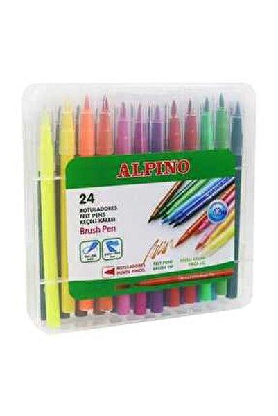 Alpino 24 Renk Fırça Uçlu Keçeli Kalem Ar-000183