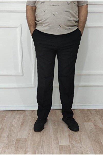 nacar çarşı Erkek Büyük Beden Klasik Rahat Kalıp Keten Pantolon