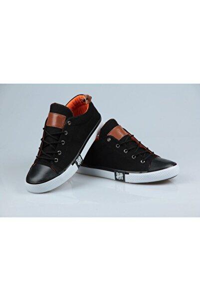 blackjack giyim Unisex Siyah Keten Yazlık Ayakkabı
